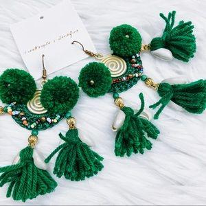 NWT Free People beaded tassel earrings
